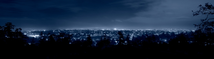 Panorama-Panoramic-Night-View-Of-Victoria-BC-British-Columbia-From-Cairn-High-Rock-Park-Blue-013