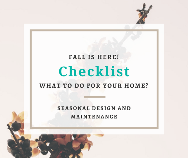 Fall Home Trends Maintenance Checklist