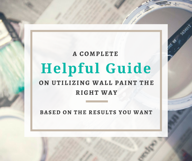 wall paint guide