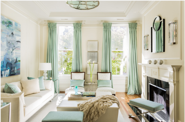 Brownstone Makeover - Transitional - Living Room - Boston - by Leslie Fine Interiors