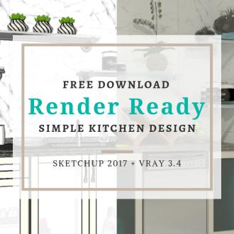 Simple Kitchen Design Sketchup Vray Ravenors Blog