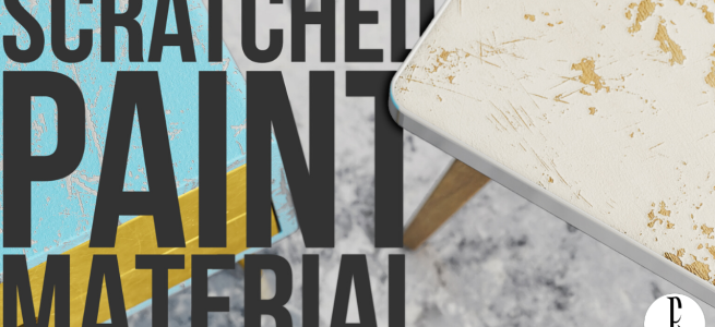 How to Create a Chipped Paint Material | Wood | VRay for Sketchup